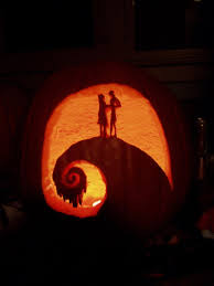 Nightmare Before Christmas Pumpkin Stencils Jack And Sally On The Hill Nightmare Before Christmas By 7anya