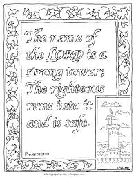 coloring pages for kids by mr adron proverbs 18 10 coloring page