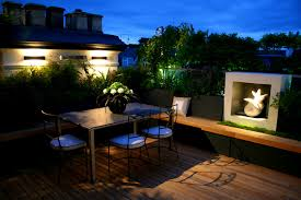 furniture stunning roof terrace beautiful view the night unique