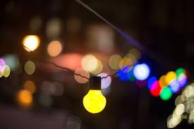 defocused image of illuminated lights at free stock photo