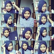 tutorial turban sederhana tutorial hijab paris untuk wisuda yang buat kamu makin mempeson