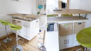 ilot central de cuisine ikea transformer une étagère ikea en un îlot de cuisine 20 exemples