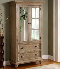 Door Armoire 2 Door Mirror Armoire With 5 Drawers By Riverside Furniture Wolf