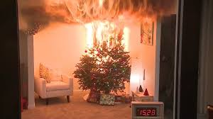 christmas tree on fire christmas ideas