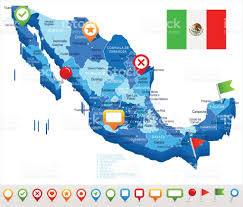 Oaxaca Mexico Map Mexico Map And Flag â Illustration Stock Vector Art 685006146 Istock