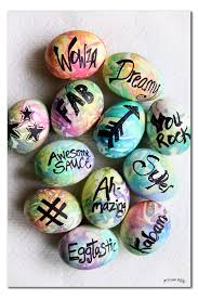 Easter Egg Decorations Craft Kit by Tie Dye Typography Easter Egg Decorating Sugar Bee Crafts