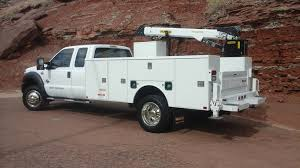 84 Ford Diesel Truck - f550 supercab with palfinger service body and crane system