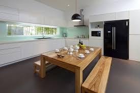 Urban Design Kitchens - urban vietnamese house garden kitchen dining and living space