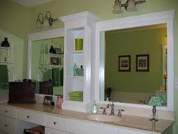 Bathroom Mirror Molding Mirrors Framing A Bathroom Mirror With Crown Molding Framing A