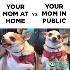 Funny Memes For Moms - meme your mom at home vs your mom in public funnyppl com