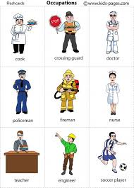 occupations kids pages printables and game cards