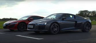 nissan gtr vs acura nsx 2017 acura nsx gets bashed by 2016 audi r8 v10 plus in a track