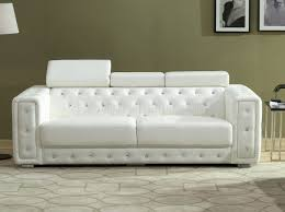 White Leather Sofa Bed Sofa U0026 Loveseat Set In White Leather Gel W Options