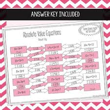 absolute value equations maze by amazing mathematics tpt