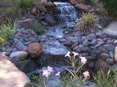 Beautiful Waterfalls For Natural Backyard And Front Yard - Backyard waterfall design