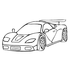 fast speedy sports car coloring pages