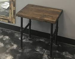 wood side table etsy