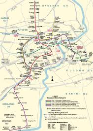Map Of Shanghai Map Of Shanghai Metro Network China Trekking Guide Route Map