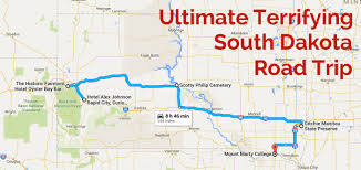 south dakota road map the haunted south dakota road trip