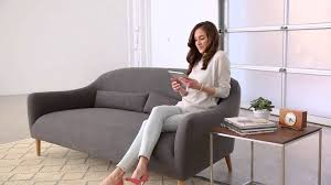 crate and barrel pennie sofa youtube