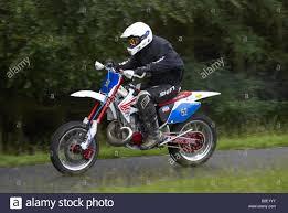 honda cr 500 honda cr 500 at barbon hillclimb cumbria england stock photo