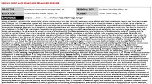 Assistant Food And Beverage Manager Resume Assistant Food And Beverage Manager Trainer Within 19 Interesting