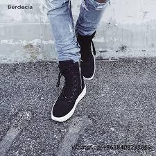 justin s boots sale sale fashion justin bieber style black s shoes lace up