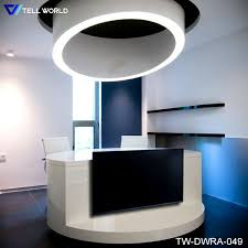 Spa Reception Desk China Spa Reception Desk In White Vinyl Or Leather High Gloss
