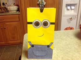 minion gift bags despicable me birthday party autry creations