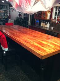 diy wood countertop for kitchen island i used 10 10 foot long