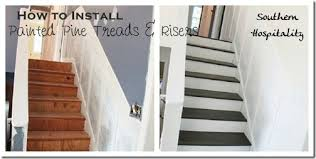 How To Refinish A Wood Banister Week 20 How To Install New Stair Treads Southern Hospitality
