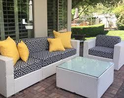 Patio Furniture Cushion Covers Patio Cushion Cover Etsy
