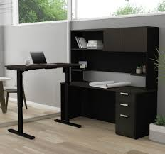 Modern L Shape Desk Modern L Shaped Desk With Hutch With Height Adjustable Side