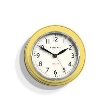 small vintage kitchen clock retro yellow newgate clocks cookhouse