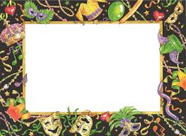 mardi gras picture frame artistic mardi gras card template design with decorative masks and