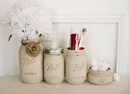 buy a custom painted distressed mason jars bathroom set soap