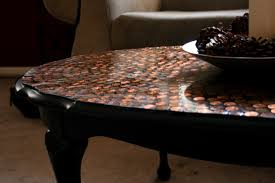 Patio Table Glass Shattered by Diy Penny Tiled Table Broken Glass Coffee With Fabric Img Thippo