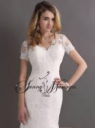 robe de mariã e sur mesure pas cher robes de mariee dentelle manche courte coupe sirene mariages