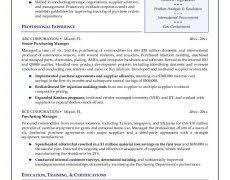 Purchasing Resume Resume Formats 16 Classic Template Nardellidesign Com