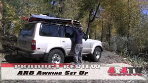 4x4 Side Awnings For Sale 4x4tv Product Review Arb Awning On Toyota Fzj80 Land Cruiser