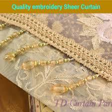 blockout blue bedroom net curtain fabric swag valance pelmet