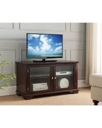 Entertainment Center Cabinet Doors Amazing Shopping Savings 42 Walnut Wood Entertainment Center Tv