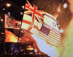 American Flag Burning Police Deal With U0027minor U0027 Disorder At Derry Bonfire Utv Itv News