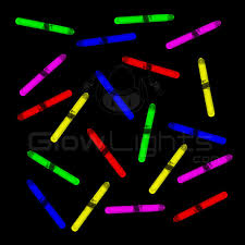 glow sticks 1 5 mini glow sticks 5 assorted colors as low as 0 12