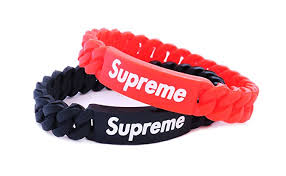 bracelet wristband images Supreme clothing rubber bracelet logo 2pack jpg