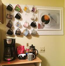 coffee mug pegboard the surznick common room