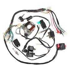 amazon com minireen full wiring harness loom kit cdi coil magneto