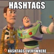 Hashtag Meme - hashtags everywhere social media fun pinterest hashtag