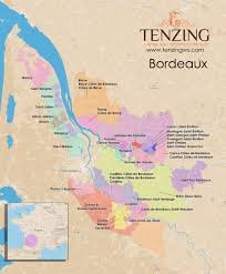 map of bordeaux map bordeaux in high res with every appellation contrôlée