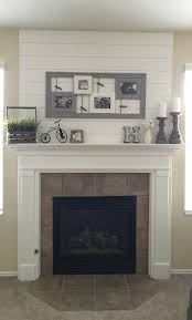 living the hawkes life diy fireplace mantle and shiplap